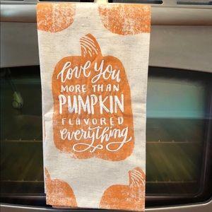 Anthropologie Embroidered Pumpkin Towel
